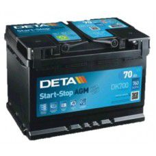 Deta Start-Stop AGM (Absorbed Glass Mat) AK-DK700 12V 70Ah 760A Deep-cycle battery with Deep Discharge for marine, solar, UPS, sail boat, motorboat, motorhome