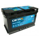 Deta Start-Stop AGM (Absorbed Glass Mat) AK-DK800 12V 80Ah 800A Deep-cycle battery with Deep Discharge for marine, solar, UPS, sail boat, motorboat, motorhome