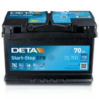 Deta Start-Stop EFB (Enhanced flooded batteries) AK-DL700 12V 70Ah 720A Deep-cycle battery with Deep Discharge for marine, solar, UPS, sail boat, motorboat, motorhome