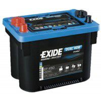 Exide Marine & Multifit Orbital Dual AGM (Absorbed Glass Mat) AK-DO900DC EP450 12V 50Ah 750A Deep-cycle battery with Deep Discharge for marine, solar, UPS, sail boat, motorboat, motorhome