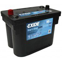 Exide Start-Stop AGM (Absorbed Glass Mat) Orbital AK-EK508 12V 50Ah 800A Deep-cycle battery with Deep Discharge for marine, solar, UPS, sail boat, motorboat, motorhome