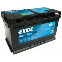 Exide Start-Stop EFB (Enhanced flooded batteries) AK-EL800 12V 80Ah 720A Deep-cycle battery with Deep Discharge for marine, solar, UPS, sail boat, motorboat, motorhome