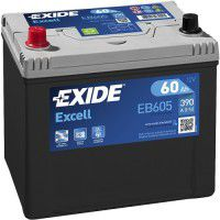 Exide Excell EB605L 12V 60Ah 390A AKB automotive battery