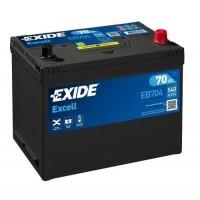Exide Excell AK-EB704 12V 70Ah 540A AKB automotive battery