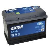Exide Excell AK-EB741L 12V 74Ah 680A AKB automotive battery