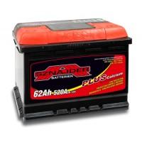 Sznajder PLUS Calcium AK-SZ56259 12V 62Ah 520A AKB automotive battery