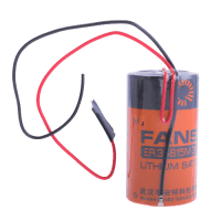 FANSO ER34615M D / LR20 / MN1300 13000mAh 3.6V (Non-rechargeable) lithium battery with soldered wires