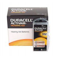 10x set: Duracell Activair 312 PR41 1.4V Hearing Aid Zinc-Air batteries, made in Germany, 60 pc.