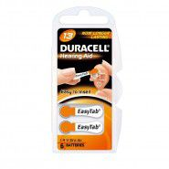 Duracell Activair 13 PR48 1.4V Hearing Aid Zinc-Air batteries, made in Germany, 6 pc.