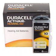 10x set: Duracell Activair 10 PR70 1.4V Hearing Aid Zinc-Air batteries, made in Germany, 60 pc.