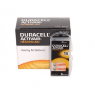 10x set: Duracell Activair 13 PR48 1.4V Hearing Aid Zinc-Air batteries, made in Germany, 60 pc.