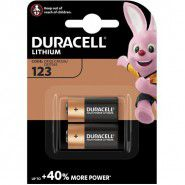Duracell Ultra Photo 123 DL123A/CR123A EL123A CR17345 3V Lithium 2 gab.