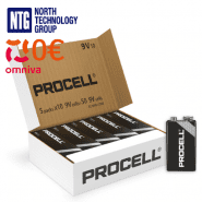 Duracell Procell Professional Alkaline 9V/6LR61/6LF22/MN1604 battery (Price is for 1 pc., buying 50 pc.)