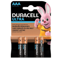 Duracell Ultra AAA/LR03/MN2400 1.5V Alkaline batteries, 4 pc.