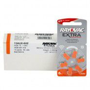 10x set: Rayovac Extra Advanced 13 1.45V 0%Hg hearing aid batteries (Expiration date: 10.2023)