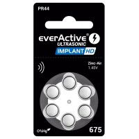 eeverActive Ultrasonic IMPLANT HD 675 / PR44 1.45V 0%Hg Zinc Air implant batteries (Haering Aid)