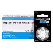 10x set: everActive Ultrasonic IMPLANT HD 675 / PR44 1.45V 0%Hg Zinc Air implant batteries (Haering Aid)