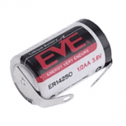 EVE Energy ER14250S 1/2AA / 1/2R6 1200mAh 15mA 3.6V lithium (Li-SoCI2) battery with u- tags (Non-rechargeable)