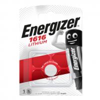 Energizer 1616 CR1616/DL1616/ECR1616 3V 60mAh 0%Hg lithium battery blister, 1 pc.