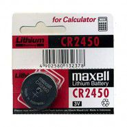 Maxell 2450 DL2450 / ECR2450 / CR2450 3V 525mAh lithium battery (made in China), 1 pc.