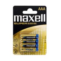 Maxell AAA / LR03 / MN2400 0% Hg 1.5V Super Alkaline batteries  (made in EU), 4 pc.