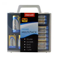 Maxell Alkaline 0% Hg Multi-Pack 12x AA / 6x AAA / 2x C / 2x D / 1x 9V batteries