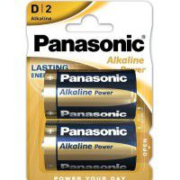 Panasonic Alkaline Power D LR20/MN1300 1.5V batteries blister 2 pieces