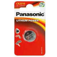 Panasonic 2016 DL2016/CR2016 ECR2016 3V 90mAh 0%Hg lithium battery blister, 1 pc.