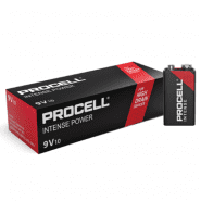 Duracell Procell Alkaline Intense Power 9V/6LR61/6LF22/MN1604 628mAh battery (Price is for 1 pc., buying 10 pc.)