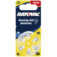 Rayovac Acoustic Special 10 V319/HA10/V10AT 1.45V 0%Hg baterijas dzirdes aparātiem (Hearing Aid, dzirdes aparātu baterijas)
