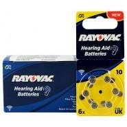 10 pack komplekts: Rayovac Acoustic Special 10 V319/HA10/V10AT 1.45V 0%Hg baterijas dzirdes aparātiem (Hearing Aid, dzirdes aparātu baterijas)