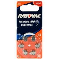 Rayovac Acoustic Special 13 1.45V 0%Hg baterijas dzirdes aparātiem (Hearing Aid, dzirdes aparātu baterijas)