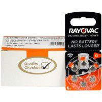 10 pack komplekts: Rayovac Acoustic Special 13 1.45V 0%Hg baterijas dzirdes aparātiem (Hearing Aid, dzirdes aparātu baterijas)