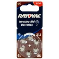 Rayovac Acoustic Special 312 1.45V 0%Hg baterijas dzirdes aparātiem (Hearing Aid, dzirdes aparātu baterijas)