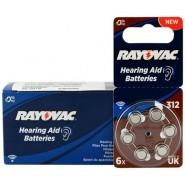 10 pack komplekts: Rayovac Acoustic Special 312 1.45V 0%Hg baterijas dzirdes aparātiem (Hearing Aid, dzirdes aparātu baterijas)