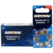 10 pack komplekts: Rayovac Acoustic Special 675 1.45V 0%Hg baterijas dzirdes aparātiem (Hearing Aid, dzirdes aparātu baterijas)