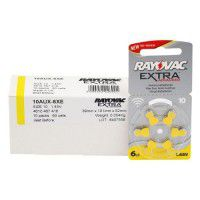 10x set: Rayovac Extra Advanced 10 1.45V 0%Hg hearing aid batteries (Expiration date: 2022)