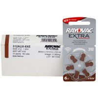 10x set: Rayovac Extra Advanced 312 1.45V 0%Hg hearing aid batteries (Expiration date: 12.2023)