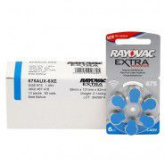 10x set: Rayovac Extra Advanced 675 1.45V 0%Hg hearing aid batteries