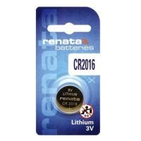 Renata CR2016 3V 90mAh litija elektronikas (electronics) baterija (ražots PRC)