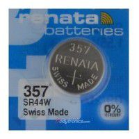 Renata 357 SR44W High Drain 1.55V Silver 0% Hg watch battery. Made in Switzerland (Expiry date 2018)