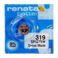 Renata 319 SR527SW Low Drain 1.55V Silver 0% Hg watch pulksteņu baterija. Ražots Šveicē