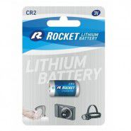 Rocket Lithium CR2 DLCR2/KCR2/ELCR2/CR17355 3V battery, 1 pc.