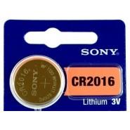 Sony CR2016 3V 90mAh litija elektronikas (electronics) baterija 1 gab.
