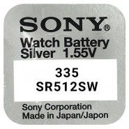 Sony 335 / SR512SW 1.55V 6mAh 0% Hg Silver oxide baterija (Ražots Japānā)