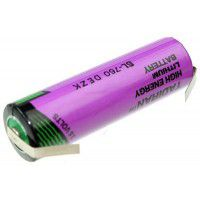 Tadiran SL-760 (AA / 14500) 2.2Ah 3.6V LTC (Li-SoCI2) battery with u-tags (Non-rechargeable)