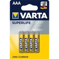 Varta Superlife AAA / LR03 / MICRO / MN2400 1.5V Zinc-Carbon batteries blister 4 pc.