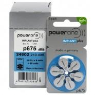 10 pack komplekts: Varta PowerOne Implant Plus 675/ p675 / PR44 1.45V 540mAh 0%Hg hearing aid (zinc-air) baterijas dzirdes aparātiem. Ražotas Vācijā