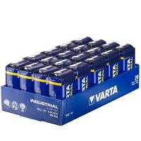 Varta Industrial 9V / 6LR61 / 6LF22 / MN1604  1.5V 625mAh Alkaline baterija 20 gab.