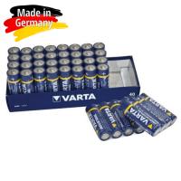 Varta Industrial AA / LR6 / MIGNON / MN1500 1.5V 2600mAh Alkaline baterija (ražots Vācijā) 40 gab.